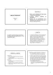 (DE)NUTRITION Question 1 CIM-10 SFNEP et ASPEN