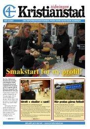 Smakstart för ny profil! - Kristianstad