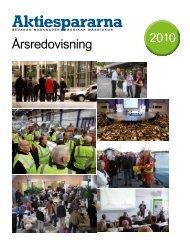 Årsredovisning 2010 - Aktiespararna