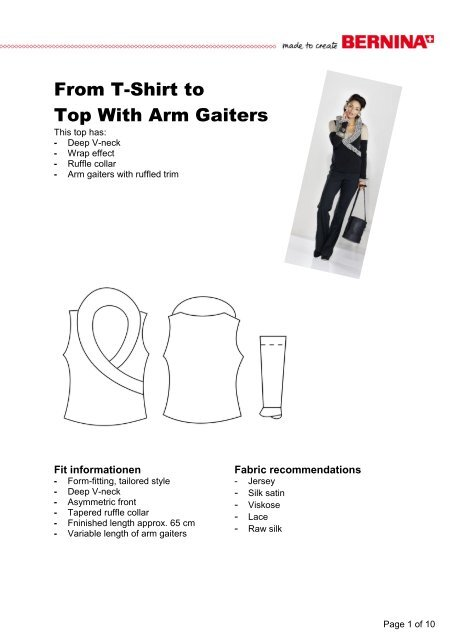 Modification Top with arm gaiters - My Label 3D Fashion Pattern ...