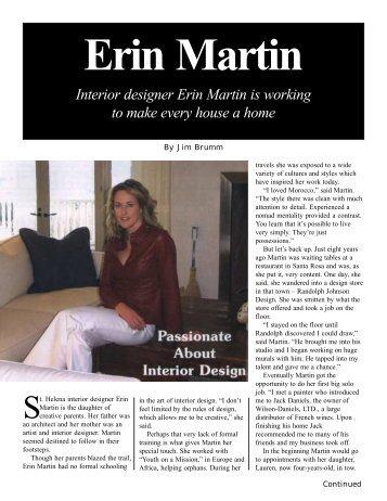Erin Martin Pagemaker - Jim Brumm