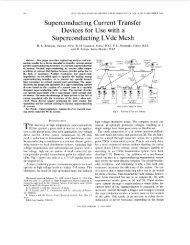 Superconducting current transfer devices for use with ... - IEEE Xplore