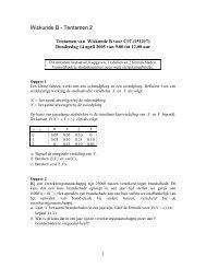 Wiskunde B - Tentamen 2
