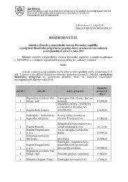 Rozhodnutia ministra výstavby a regionálneho rozvoja SR o