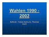 Wahlergebnisse 1990 - Kai Arzheimer