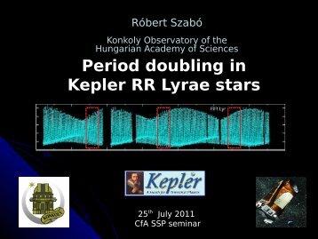RR Lyrae stars - Sounding Stars with Kepler