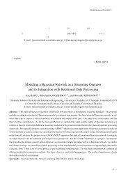 ベイジアンネットワークのストリーム演算化 ならびに関係データ処理との ...