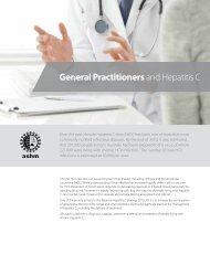 GPs and Hepatitis C - ASHM