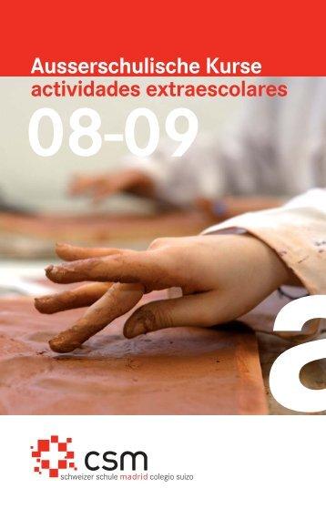 FOLLETO ACTIVIDADES - Colegio Suizo