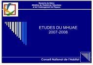 Recueil des études du MHUAE - Ministère de l'Habitat, de l ...