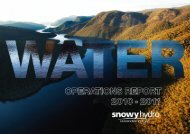 Snowy Hydro Water Operations Report 2010-11