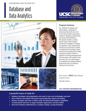 Database and Data Analytics - UCSC Extension Silicon Valley