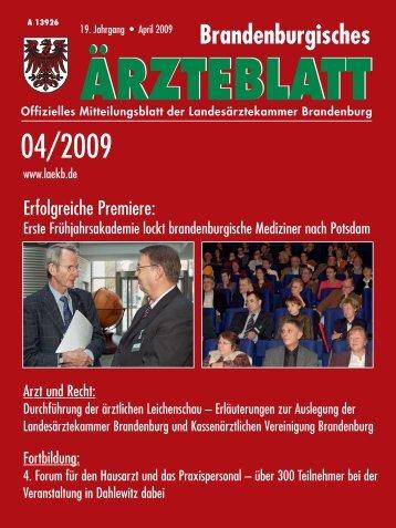 Inhalt_April_2009.qxd - Landesärztekammer Brandenburg