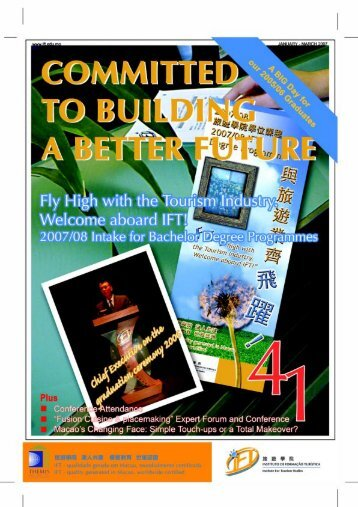 41st Issue (January - March 2007) - Institute for Tourism Studies
