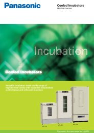 Literature - Panasonic Biomedical Europe, Laboratory Equipment ...