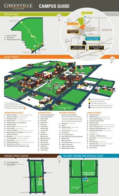 greenville college campus map Campus Map Greenville College greenville college campus map