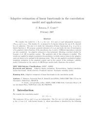 Adaptive estimation of linear functionals in the convolution model ...