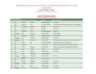 attendees list - Department of Chemistry and Biochemistry, Cal State ...