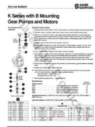 K-Series gear pumps - Service Manual - Sauer-Danfoss