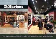 dr martens open in bullring shopping centre, birmingham