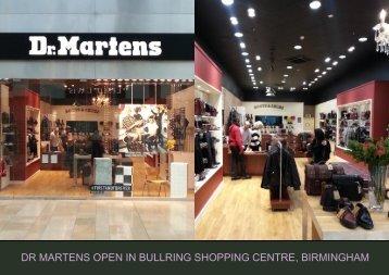 dr martens open in bullring shopping centre, birmingham
