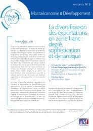 La diversification des exportations en zone franc - Agence Française ...