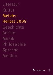 Literatur Kultur Metzler Herbst 2005 Geschichte Antike Musik ...