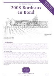 2008 Bordeaux In Bond - The Wine Society