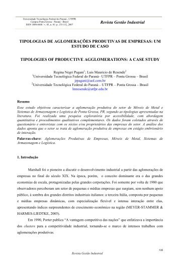 um estudo de caso - UTFPR