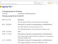 08:00 - 8:15 Uhr - Universität Passau