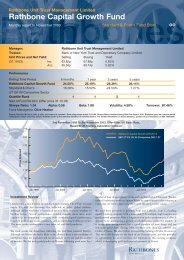 Capital Growth nov 03 - Rathbone Unit Trust Management
