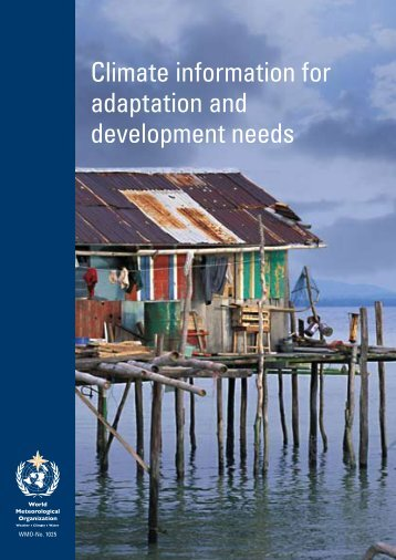 Climate information for adaptation and development needs