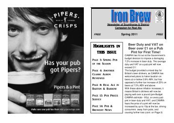 Highlights in this issu - Scunthorpe & District CAMRA