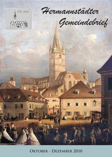 Hermannstädter Gemeindebrief - Evangelische Kirchengemeinde ...