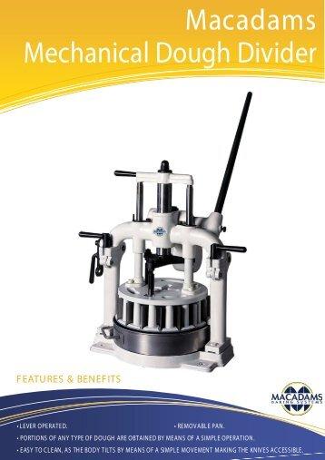 Mechanical Dough Divider front - Macadams