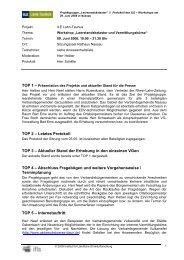 TOP 2 – Letztes Protokoll TOP 3 – Aktueller Stand der Erhebung in ...