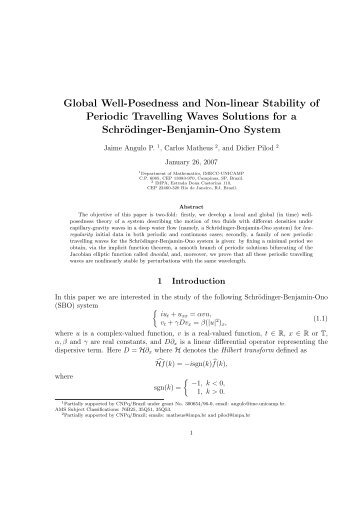 Global Well-Posedness and Non-linear Stability of Periodic ...