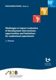 Challenges in impact evaluation of development interventions ...