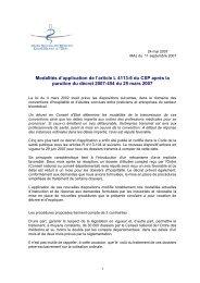 Modalités d'application de l'article L 4113-6 du CSP - Conseil ...
