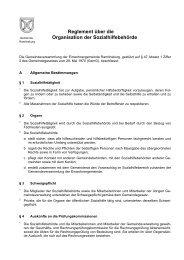 Reglement über die Organisation der ... - Ramlinsburg