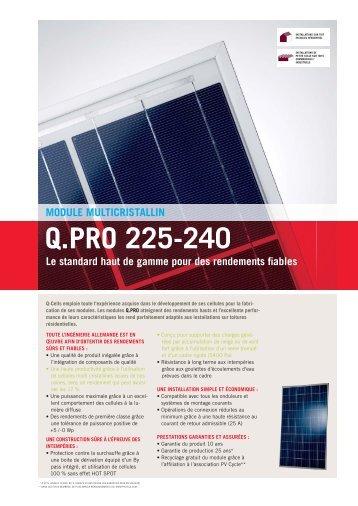 Q.PRO 225-240 - SAT Solar
