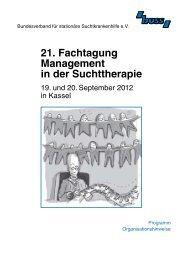 21. Fachtagung Management in der Suchttherapie - Bundesverband ...