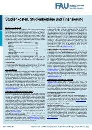 Studienkosten, Studienbeiträge und Finanzierung - Friedrich ...