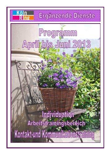 Programm April bis Juni 2013.pub - Woche für Seelische Gesundheit