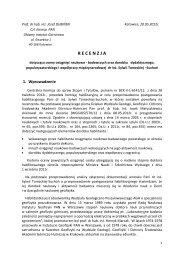 Recenzja prof. dr hab. inż. Józef Dubiński - AGH