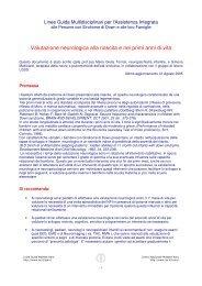 Valutazione neurologica in bambini con sindrome di Down