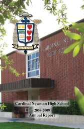 View 2008 - 2009 Annual Report - Cardinal Newman High School