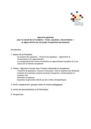 Französisch final - Stiftung Flucht, Vertreibung, Versöhnung