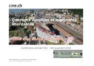 Quartiers durables et logements abordables - FSU