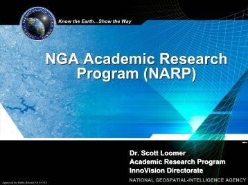 NGA Academic Research Program (NARP) - UCGIS